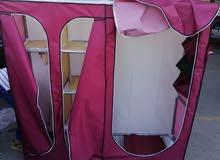 خزانة قماش نوع ممتاز وبعض الزجاج الشخصي