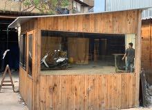 غرفتين حشب للبيع خشب سويدي