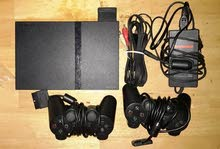 Playstation 2 black + 2 controllers + 1 Memory card /Only by whatsapp