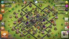 كلاش اف كلانس قرية لفل9     clash of clans