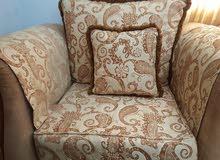 غرفه جلوس 7 أشخاص خشب استعمال نادر ,vrawooden sofa set 7 seater