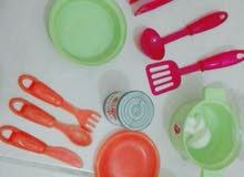 2 لعبه مطبخ للاطفال مع ادوات المطبخ