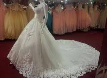 فستان زفاف لبناني موديل السندريلا بسعر مغررري