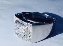 للبيع .. خاتم الماس فضه 14جرام