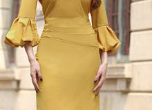 فستان اصفر