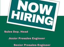 Junior / Senior PreSales Engineers (IT Solutions Provider) - Cairo, Egypt