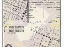 للبيع ارض تجارية سكنية في العامرات المحج على ثاني خط من الشارع العام