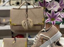 طاقم ثلاث قطع حذاء جزدان شنطة صناعة تركية ممتازة لاطلالة روعة