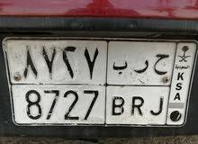 لوحة سيارة ح ر ب 8727