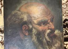 لوحة لرجل حزين