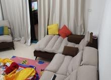 دبي نهدة1 غرفة وصالة مفروشة سوبر لوكس مع بلكونة ايجار شهري