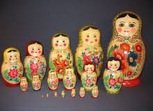 مطلوب لعبة اطفال (ماتريوشكا) الخشبية