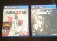 العاب NBA 2K18 و Fallout 4
