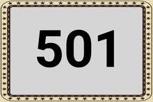 مطلوب رقم 501 بي اي رمز عادي