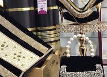 بدلة عربية للايجار او البيع رداء حرير ثلاث ارباع فضة