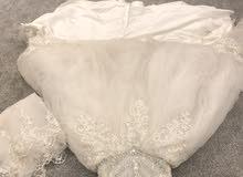 فستان زواج معا المسكة والطرحة و فستان ملكة معا المسكة