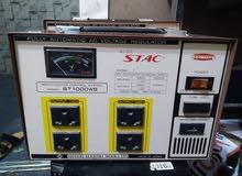 جهاز انفرتر 2500 وات سوكام و2منظم كهرباء قوة 1000 وات