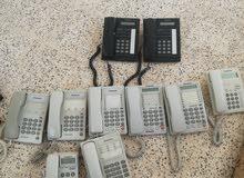 مجموعه هواتف بحاله جيده للبيع