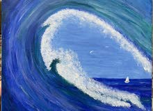 Sea Waves Acrylic Painting 30x30cm