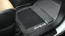 Genuine Toyota RAV4 rubber floor mats with carpet trunk mat.