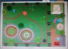 تنسيق حدائق وعمل شلالات ومناظر طبيعيه