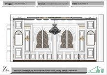 تصميم وتنفيذ الديكور الداخلي 3D