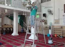 غسيل فرش وسجاد المساجد  وموكيت القاعات والشركات  والمنازل