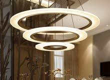 ثريا LED ذات شكل مميز وإنارة رائعة