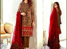 Ladies 3 piece  Lawn Suite with Emb and Print
