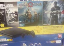 Ps4 500gb + 3 Games and gives you 2 year warranty.Games are uncharted