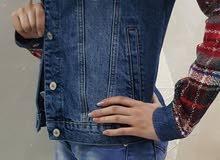 جاكيت جينز قصير مبطن من الداخل