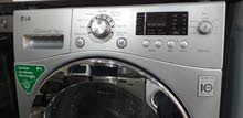 LG 8/5 Direct Drive combo washer dryer silver colour