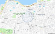 شقة للايجار في زاوية الدهماني خلف سوق المهاري الدور الخامس