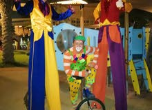 clown , juggler ,and bubbles show for birthdays and event all UAE 0504577490