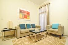 دبي ارجان غرفة وصالة مفروشة سوبر لوكس مع بلكونة - ايجار شهري شامل