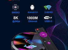 H96 Max 4Gb / 128gb Rom 8k 5G WIFI bluetooth 4.0 1000M LAN Android Android 9.0
