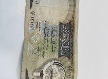 للبيع عمله ورقيه فئة 20 دينار كويتي  طبعت سنه 1968
