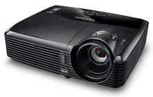 projector viewsonic with standard manual screen white