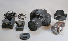 كاميرا كانون 750D مستعمل شي قليل ونظيفة جدا جدا