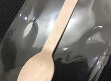 wood spoon for kaik ملاعق خشبيه للكيك والكنافه