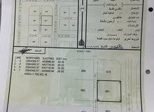 أرض سكنيه للبيع المساحه 780 م