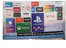 Gift Cards and recharges available