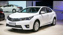 Automatic White Toyota 2018 for rent