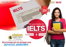 IELTS Training at Vision Institute. Call