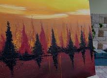 لوحة كانفس عرضية للبيع