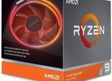 AMD Ryzen 9 3900X معالج ومع المبرد الخاص فيه بالكرتون مستخدم قليل جدا مع كرتونه كامل