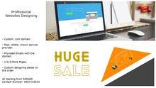 Websites Design For Sale (Many Pages, Responsive) تصميم وتنفيذ وتشغيل المواقع