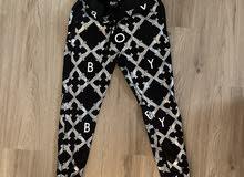 BOY London sweatpants / black / silver