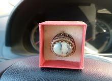 خاتم للبيع فضة اصلي نوعية عقيق يماني درجة اولى