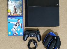 PS4 500gb with wireless headset 1 controller and  2 games